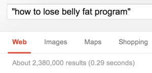 How to Lose Belly Fat Programs