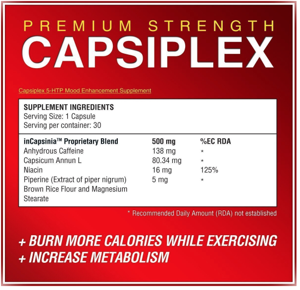 Capsiplex Plus ingredient list